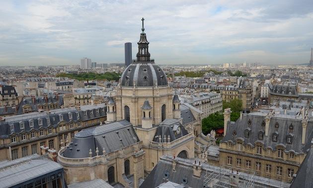 Vue de l'observatoire de la Sorbonne